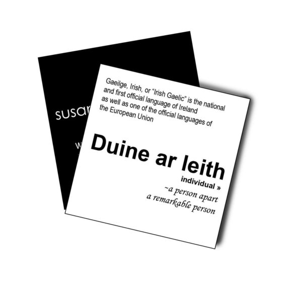 Duine ar Leith card Susannagh Grogan Empowered Collection