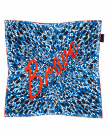 Empowerment 'Brave' Silk Scarf As Seen: Independent W/E