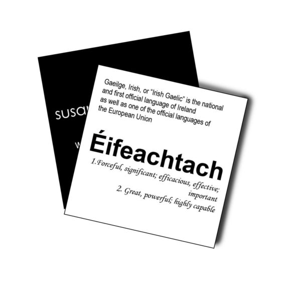 Éifeachtach card Susannagh Grogan Silk Scarves