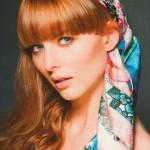 Printed scarf Susannagh Grogan Scarves