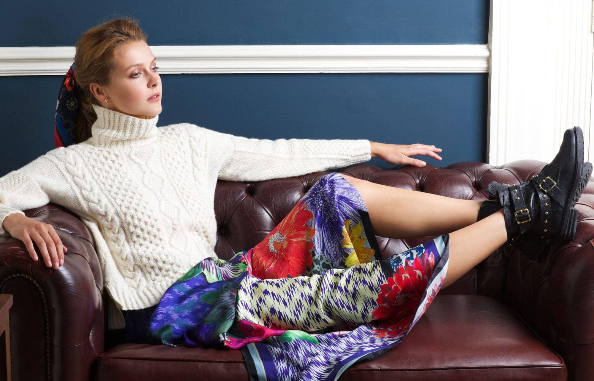 Susannagh Grogan Silk Scarves Madigan Cashmere New Collection by Irish Designers