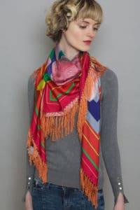 Susannagh Grogan Fringed Silk Scarf