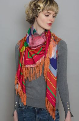 Susannagh Grogan Fringed Silk Scarf