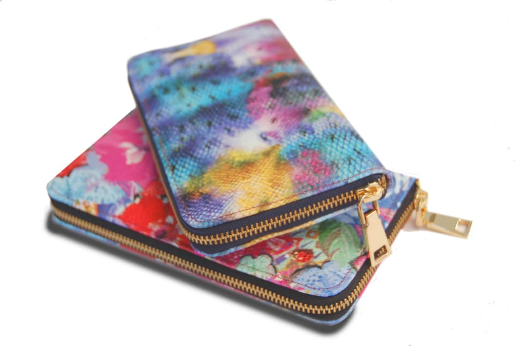 Printed Leather Purse