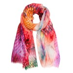 Orange Pink Skin Long Scarf Susannagh Grogan