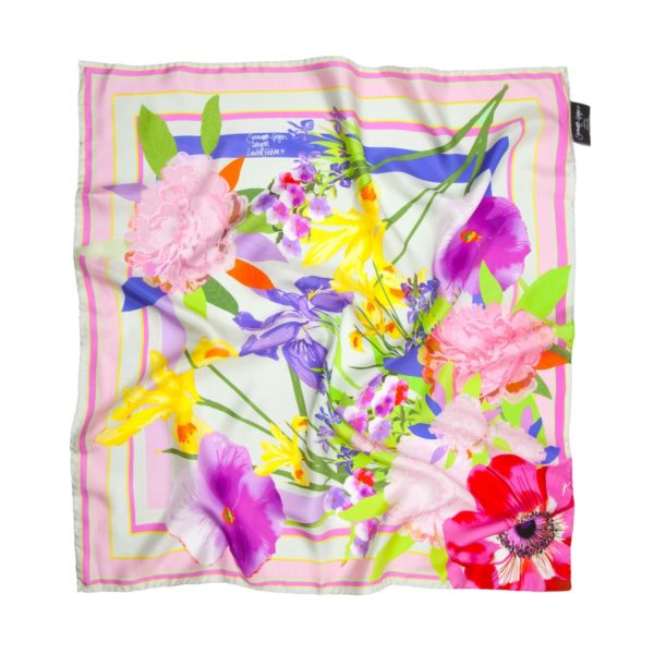 Susannagh Grogan Floral pastel silk scarf