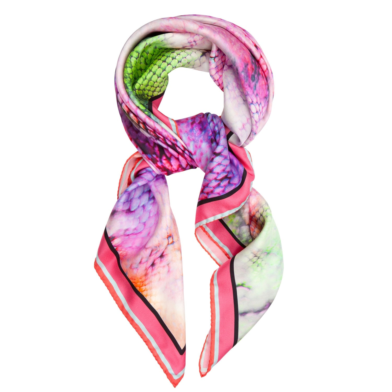 'Quotes Pink' Classic Silk Scarf