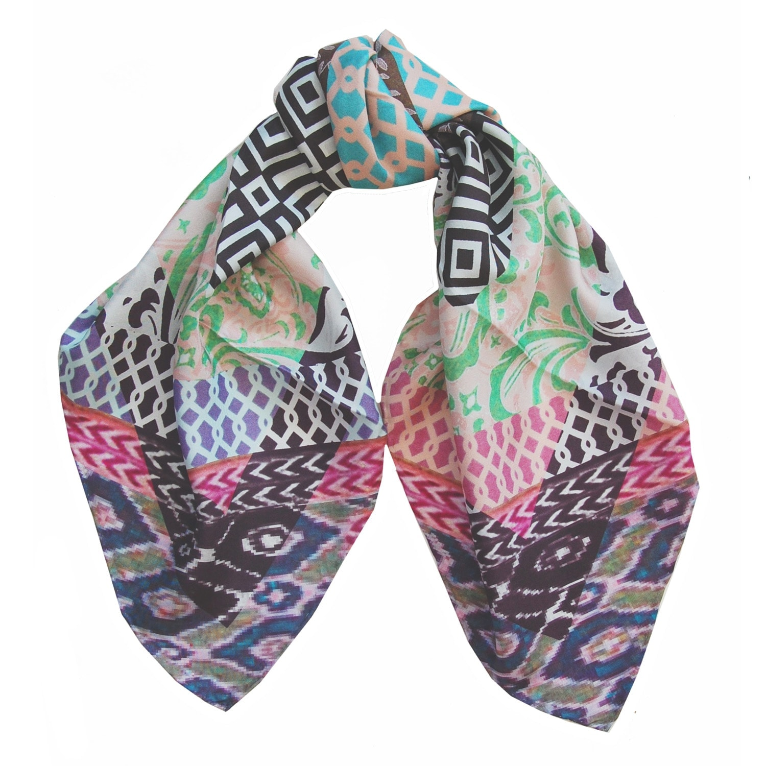 susannagh grogan printed silk square scarf