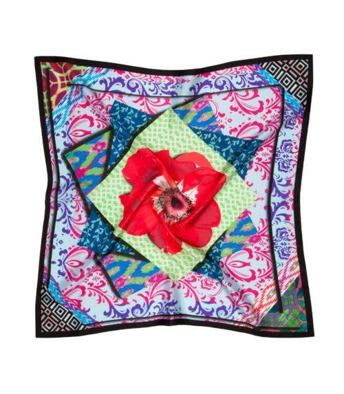 Susannagh Grogan - Multicolour Bazaar Tiles Silk Small Scarf