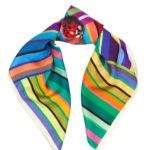 SS16s5 Susannagh Grogan - Stripe Ladybird S Silk Scarf - €80