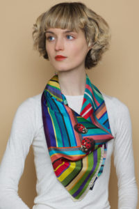 Susannagh Grogan Stripe Silk Scarf