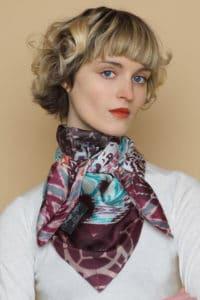 Susannagh Grogan Blue Bazaar Silk Square