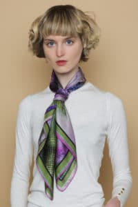 Susannagh Grogan Heather Silk Scarf from Quotes Collection
