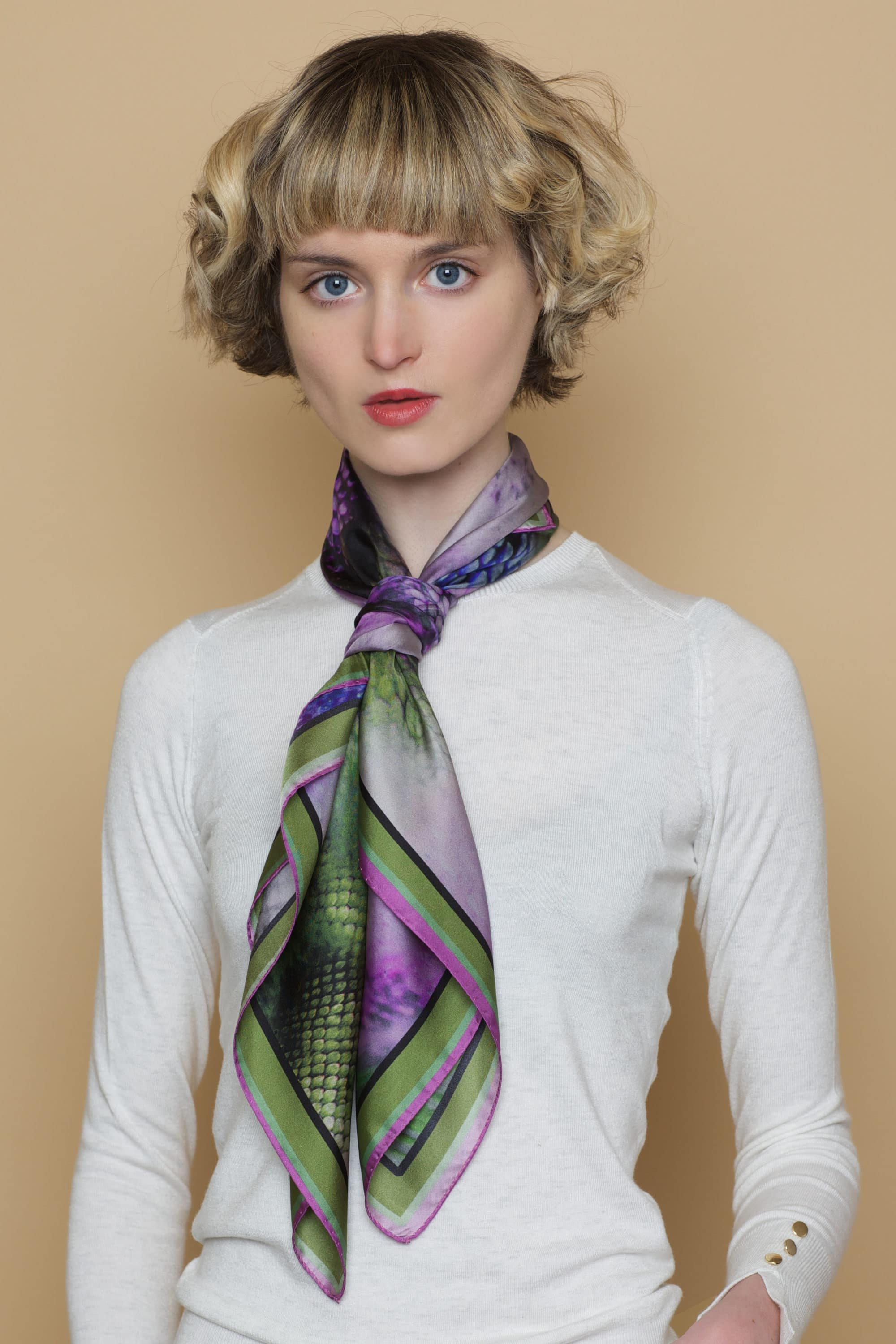 'Quotes Heather' Classic Scarf