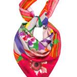 Susannagh Grogan Floral square silk scarf