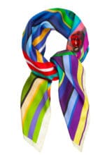 Susannagh Grogan - Multicolour Stripe Classic Square Silk Scarf - M