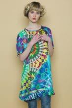 Festival Bird Silk Tunic