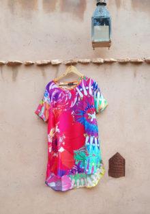100% Silk Tunic Floral Fiesta
