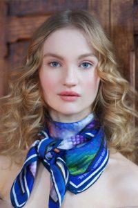 Blue Skin Print Susannagh Grogan Scarf