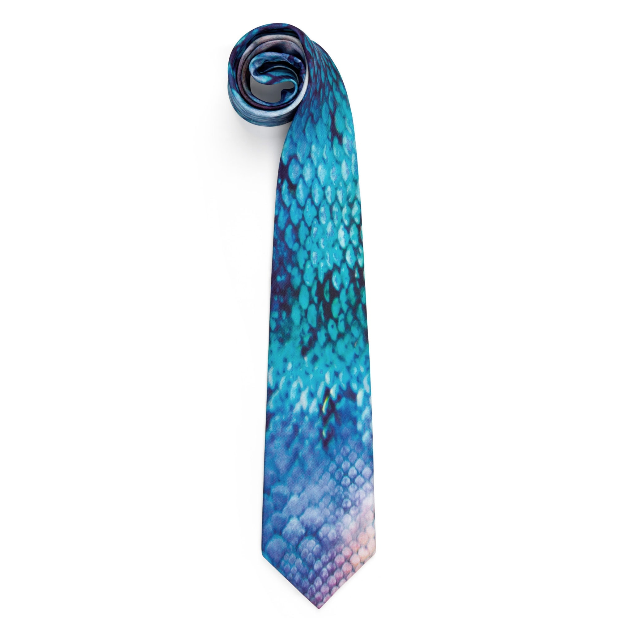 'Quotes' Blue Silk Tie