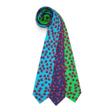 Susannagh Grogan - Multicolour Print Silk Ladybug Ties - M