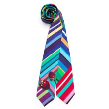 Susannagh Grogan - Stripe Print Silk Ladybug Ties - M