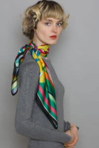 8 Susannagh Grogan AW16 'Ladybug Collection' Multicoloured stripe w Floral - Classic square