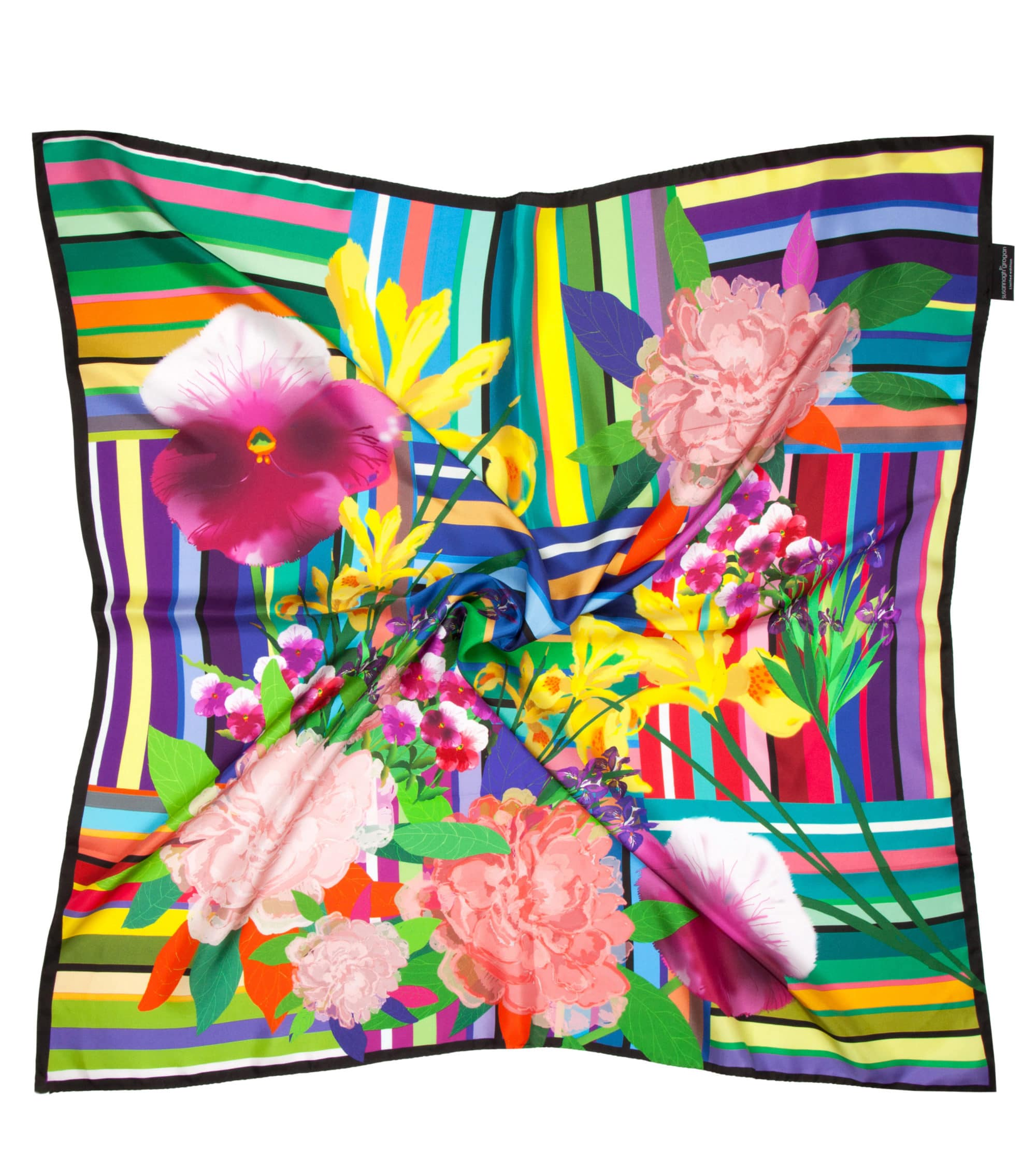 'Floral Stripe' Classic Scarf | As Seen: Irish Times Mag