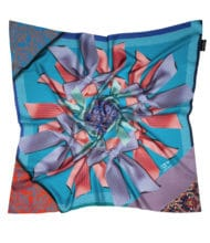 BT          Susannagh Grogan -DeepTurquoise,Heather'Ribbon Collection' Classic Silk square AW16m4a