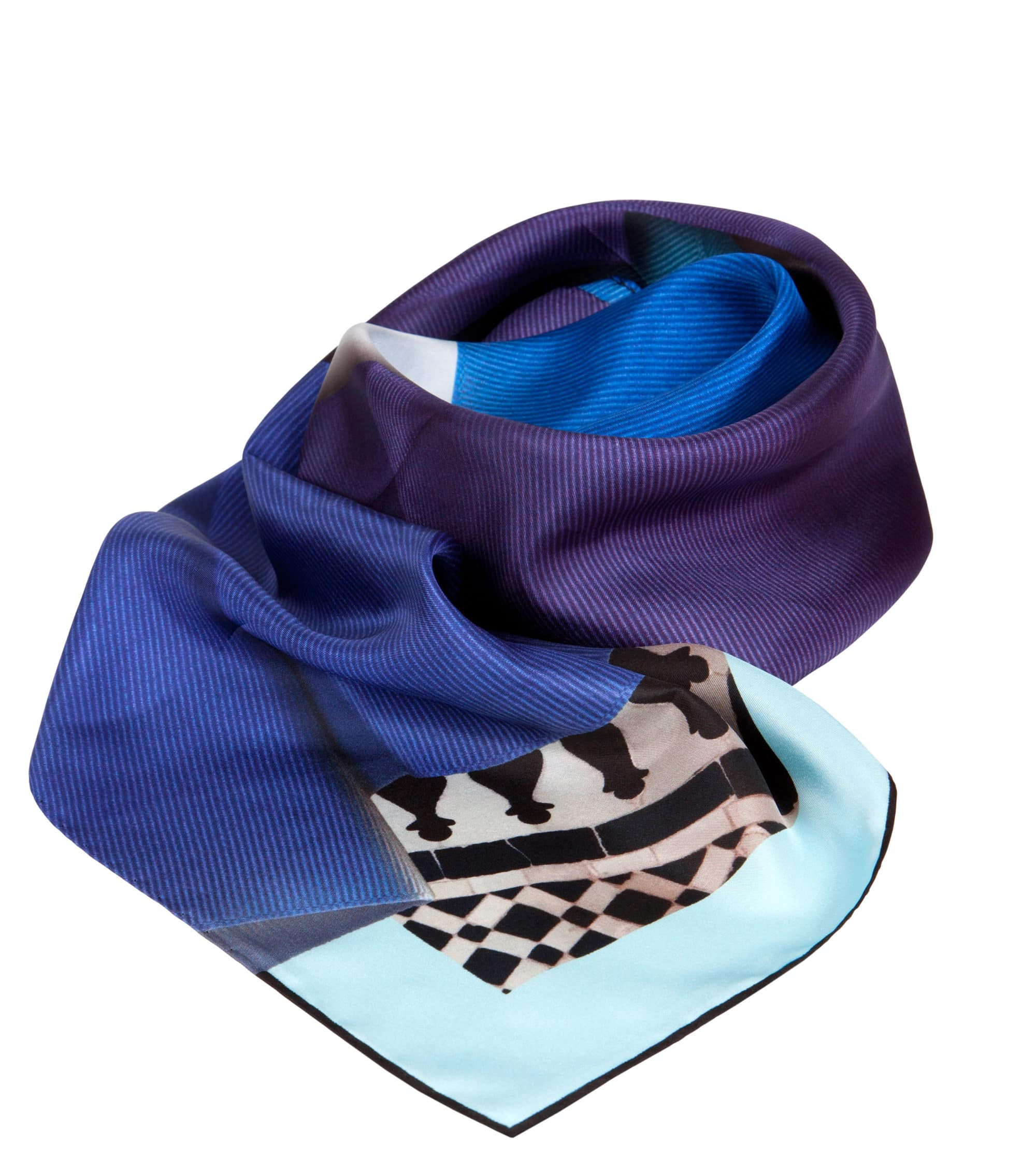 Colour Riot 'Ribbon Blues' Classic Silk Scarf