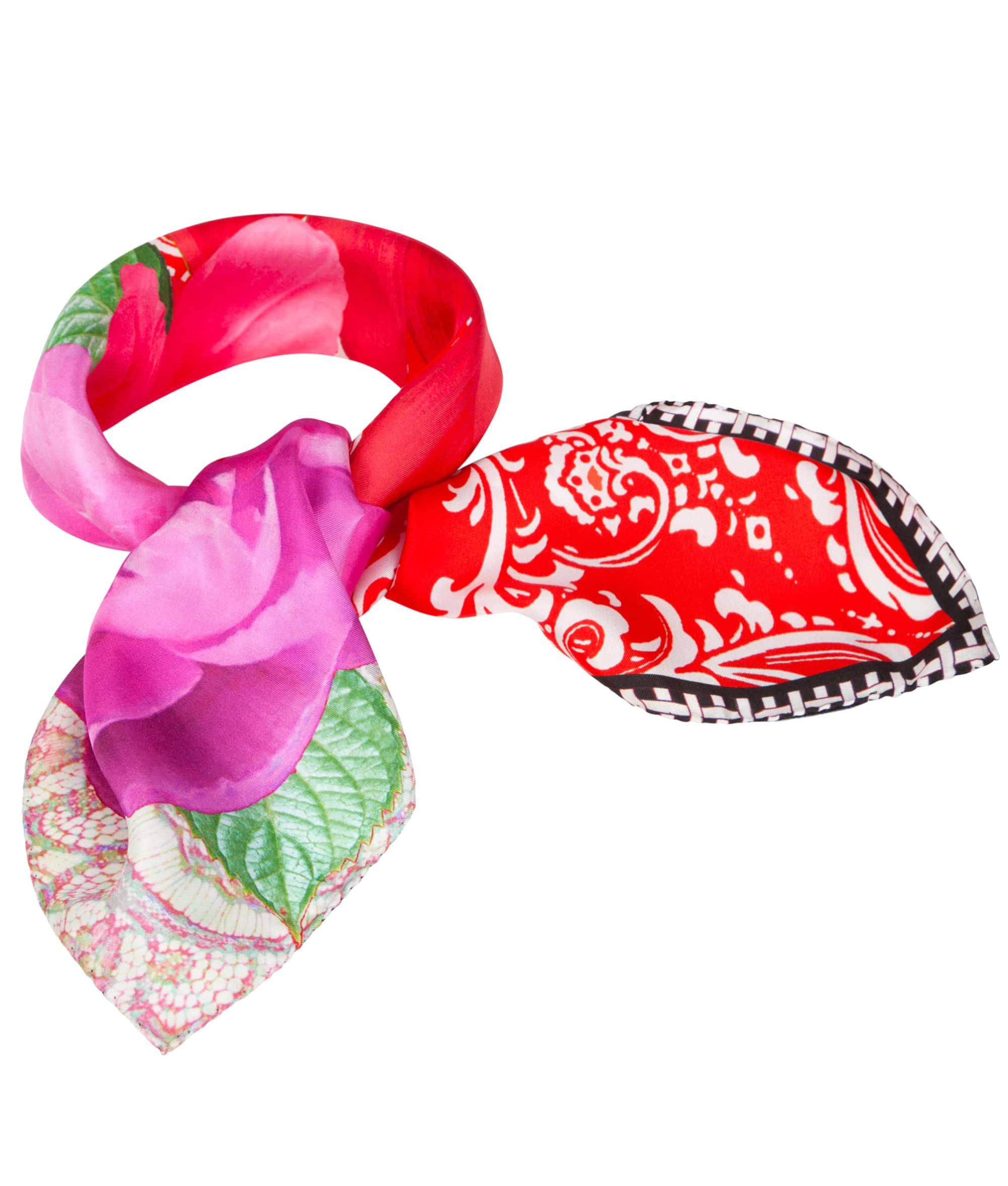Susannagh Grogan Red Bandana Printed Silk Scarf