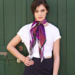 Amethyst Purple Freedom bird Susannagh Grogan Silk Scarf