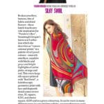 Irish Times Weekend Magazine, Deirdre McQuillan. Susannagh Grogan Silk Scarf