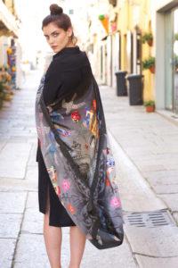 Susannagh Grogan Printed Silk Scarf