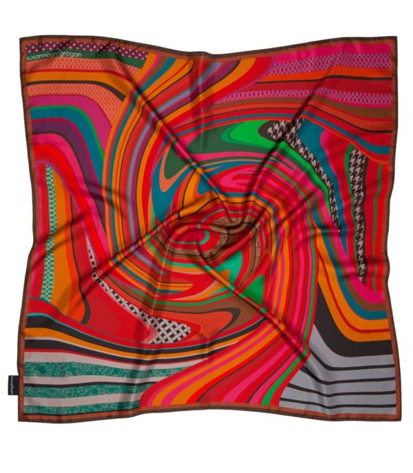 Susannagh Grogan Printed Silk Scarf