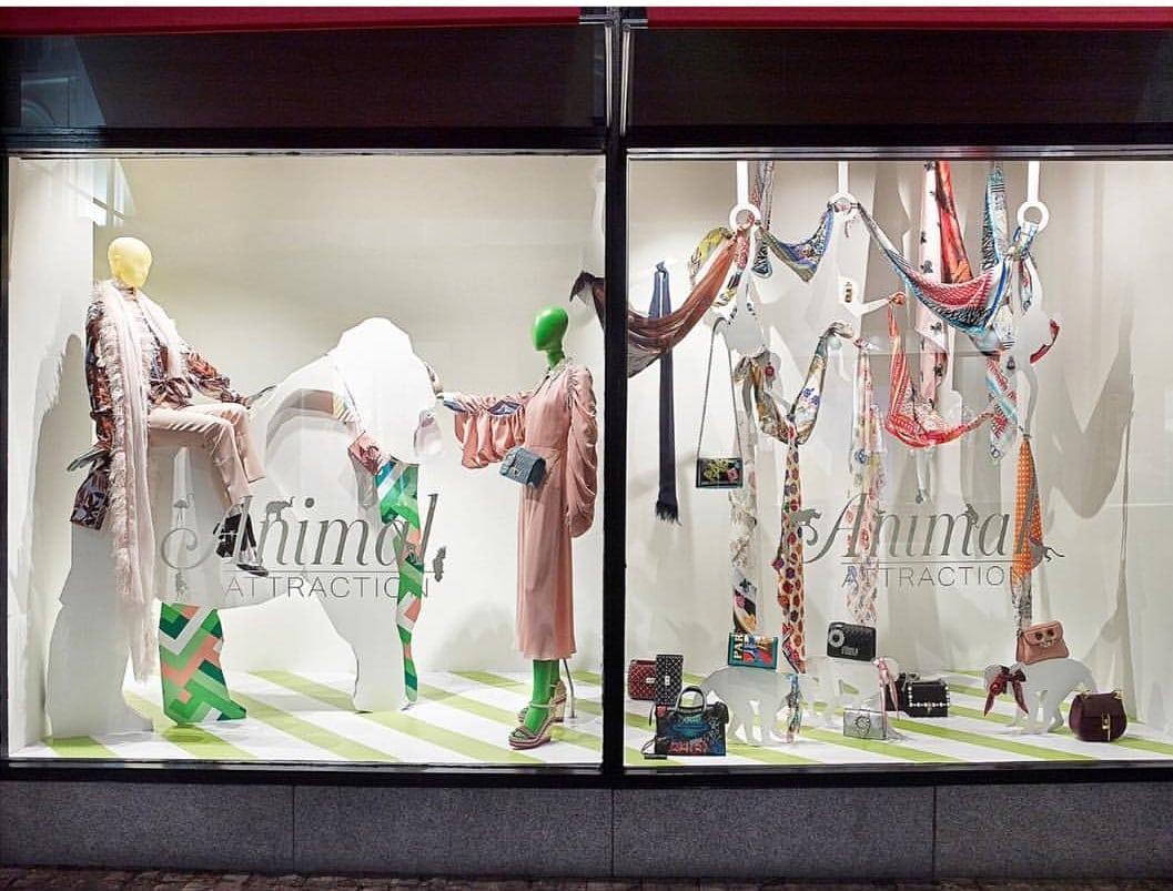 Susannagh Grogan Scarves Brown Thomas Dublin Window Display SS18