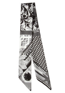 Picnic Perfect 'Black & White' Classic Silk  Scarf