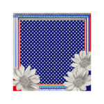 Susannagh Grogan Scarf - Blue & White Spot Small Silk Square