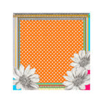 Susannagh Grogan Scarves - 'Orange Dotty Polka'Small Silk Scarf
