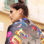 Susannagh Grogan LOVE Printed Silk Scarf 'Pandora's Box' Collection