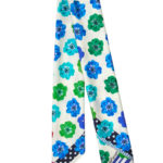 Susannagh Grogan Scarf Green & Blue Medium Silk Square