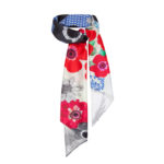Susannagh Grogan 'Floral Circle' Small Rectangle Silk Scarf