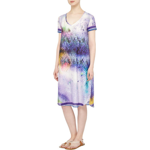 Blue Sea Tunic Susannagh Grogan Silk Cotton