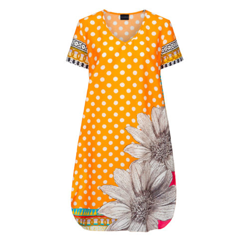 Susannagh Grogan Orange Dot Printed Summer Tunic