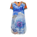 Susannagh Grogan Tourqoise Orange BAROQUE n' ROSE Printed Tunic