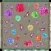 Susannagh Grogan Irish Print Designer | Khaki Zig-Zag Classic Medium Silk Square
