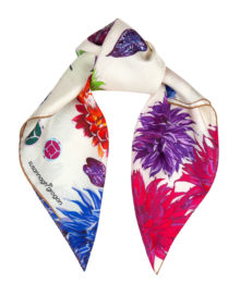 Cream Floral | Flower Flash | Small Silk Scarf