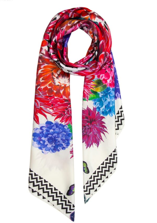 Susannagh Grogan Irish Fashion Print Designer Printed Silk Square Scarf