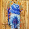 Blue Orange Bandana Silk Tunic Susannagh Grogan 2 Medium Size