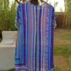 Candy Blue Susannagh Grogan Silk Tunic back